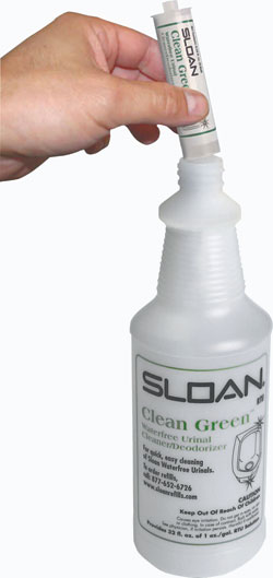 Clean Green™ Waterfree Urinal cleaner/deodorizer: Sloan JANSAN Division