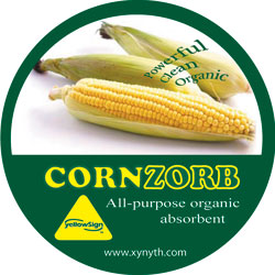 line of products include YellowSign QuickAbsorb and YellowSign CornZorb: Xynyth Manufacturing Corp.