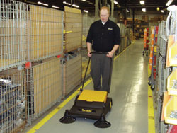 Upsweep 32 Manual Sweeper with Quadra Brush: Tornado Industries
