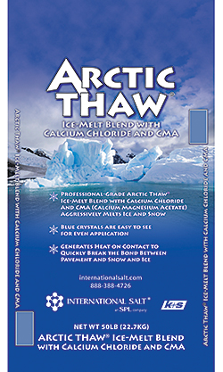 Arctic Thaw Ice-Melt Blend with Calcium Chloride and CMA: International Salt Co.