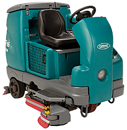 T16 Battery-Powered Rider Scrubber: Tennant Company