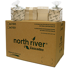 Clearly Green — North River Multi-Ply Paper Wiper Product Line: Cascades Tissue Group - IFC Disposables Inc.