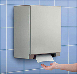 B-2974 Automatic, Universal Surface-Mounted Stainless Steel Roll Paper Towel Dispenser: Bobrick Washroom Equipment Inc.
