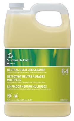 Sustainable Earth #64 Neutral All Purpose Cleaner: Staples Advantage