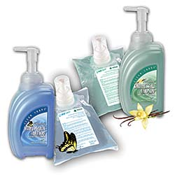 EZFoam Hand Soap in Foaming Vanilla Essence and Foaming Spring Meadow: Kutol Products Company Inc.
