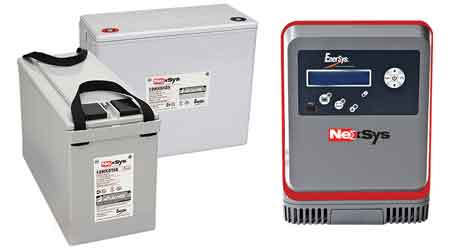 NexSys battery and charger: Enersys