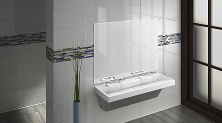 Verge with all-in-one WashBar technology: Bradley Corp.