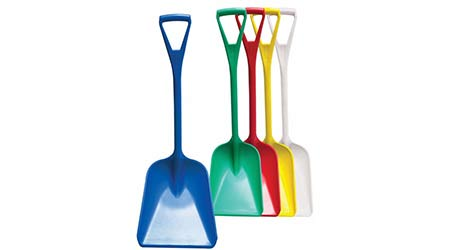 Color-coded sanitary shovels: The Malish Corporation