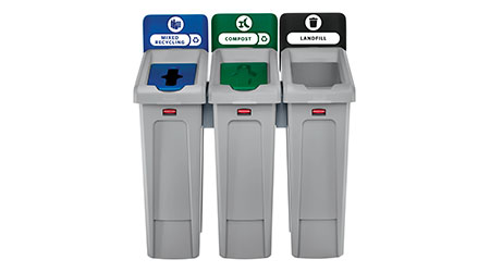 Slim Jim Recycling Station: Rubbermaid Commercial Products