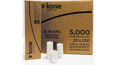 The 0.75 ounce portion cup: Konie Cups International