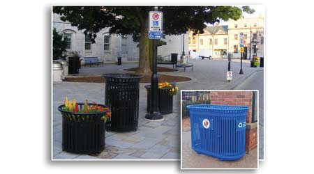 Premier Waste And Recycling Receptacles: Paris Site Furnishings