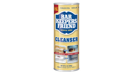 Cleanser: Bar Keepers Friend