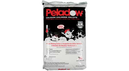 PELADOW Premier Snow & Ice Melter Calcium Chloride Pellets Packaging: Occidental Chemical Corporation (OxyChem)