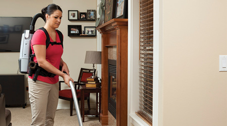 Cleaning Service Employees Prefer Backpack Vacuum Cleaners