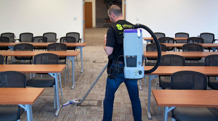 Convincing Janitors To Wear Backpack Vacuums