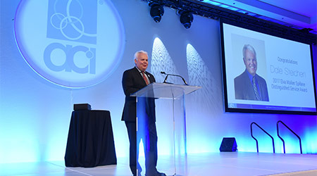 ACI Presents Industry Veteran With Distinguished Service Award