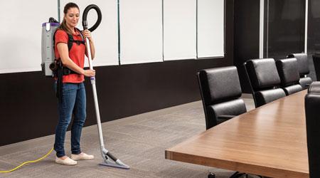 Jan-Pro Discovers Backpack Vacuum Efficiency