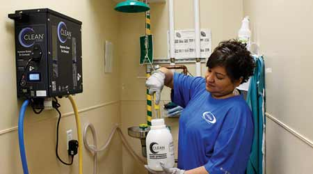 How Janitors Clean With Aqueous Ozone