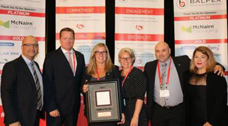 Cascades PRO Named Platinum Supplier Of The Year