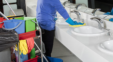 Technology Streamlines Restroom Cleaning Operations