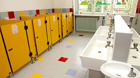 school restroom