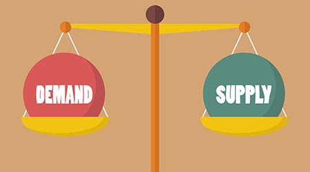 Supply and demand balance on the scale