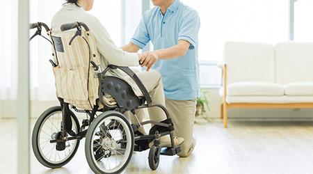 Senior women and caregiver