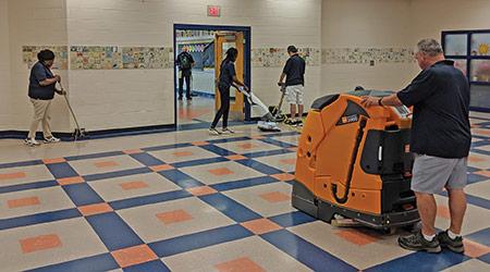 Robotic floor machine