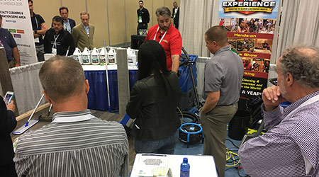 ISSA Show booth demonstration