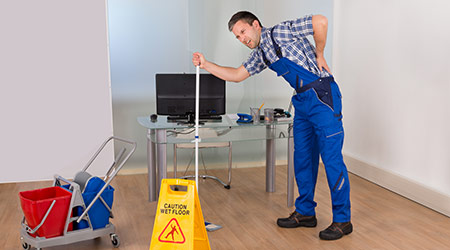 Janitor with Back Pain