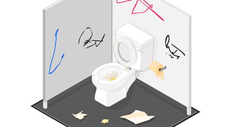 Messy Toilet Stall