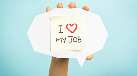 Speech Bubble - I love my job