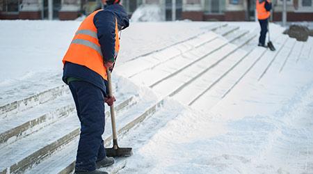 Sweeping Snow