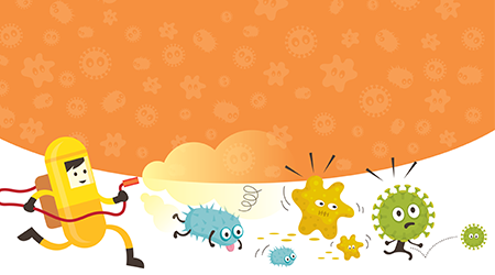 Illustration of killing germs