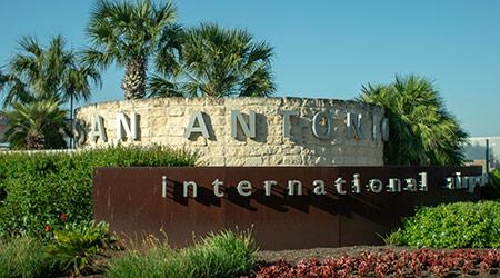 sign at San Antonio International Aiport