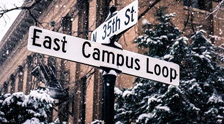 Lincoln, Nebraska / United States - 1/22/2019: University of Nebraska-Lincoln East Campus