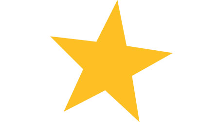 vector image of a gold or yellow star