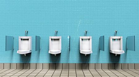 A line of urinals