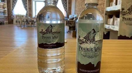 Prairie Wolf Distillery Hand sanitizer